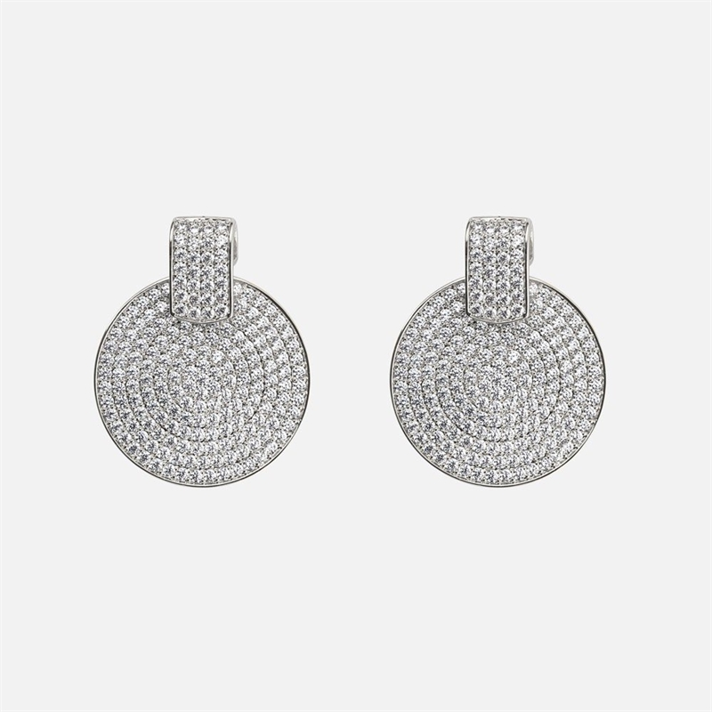Carrie small pendant ear s/clear