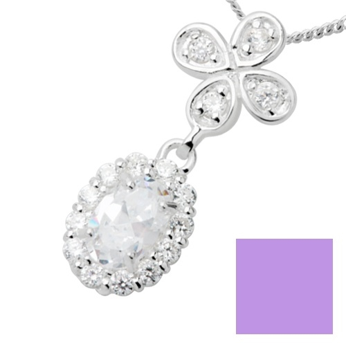 Scoop silver 925 halsband lavendel cz - Scoop  4e2df8983421d